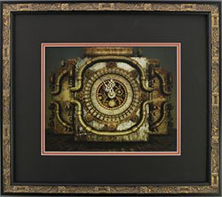 Framed SteamPunk Eleven Fifty Five Clock