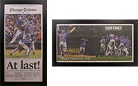 Two Chicago Cubs 2016 World Series Tribune/Sun Times Newspaper F