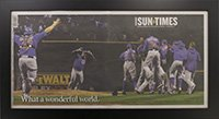 Chicago Cubs 2016 World Series Sun Times Newspaper Frame