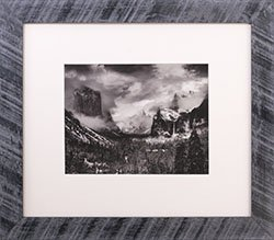 Framed Ansel Adams photo Clearing Winter Storm Yosemite 1937