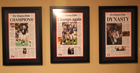 New England Patriots Championship Newspaper Frames