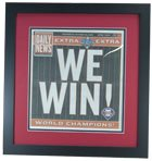 Philadelphia Phillies 2008 World Series Newspaper Frame