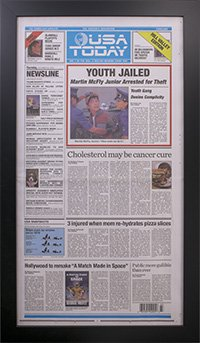 Framed Back To The Future Newspaper